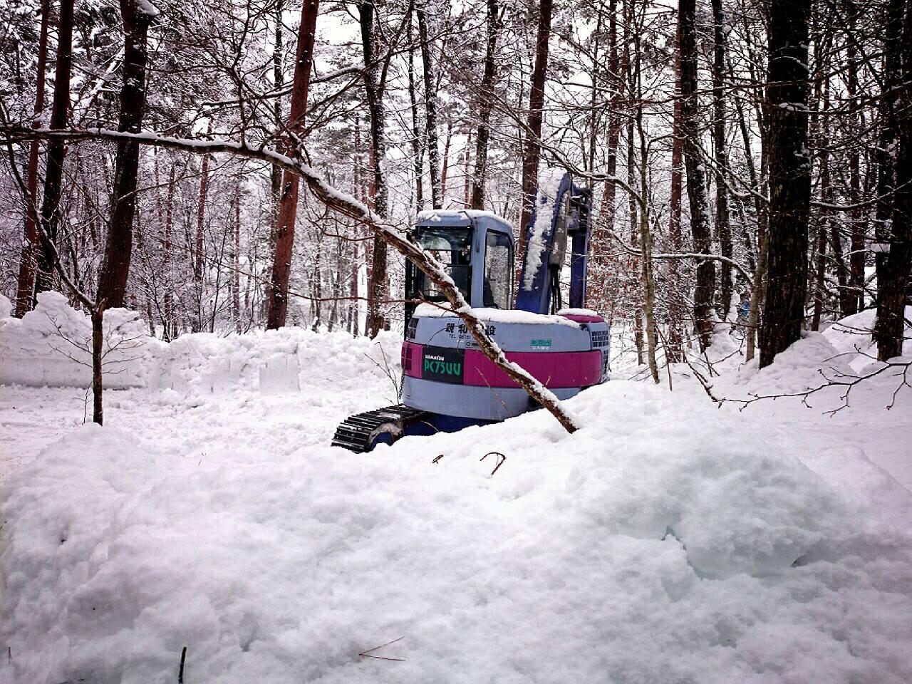 雪中キャンプ1日目